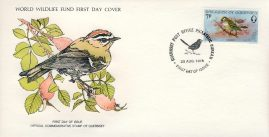 The Firecrest small bird GUERNSEY 1978 Stamp World Wildlife Fund First Day Cover FDC refWWF50 Stamp Cover with information paper regarding cover topic.  A vintage lightweight cover in very good condition. Please see larger photo and full description for details.