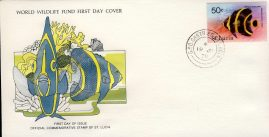 The French Angelfish CASTRIES ST. LUCIA 1978 Stamp World Wildlife Fund First Day Cover FDC refWWF52 Stamp Cover with information paper regarding cover topic.  A vintage lightweight cover in very good condition. Please see larger photo and full description for details.