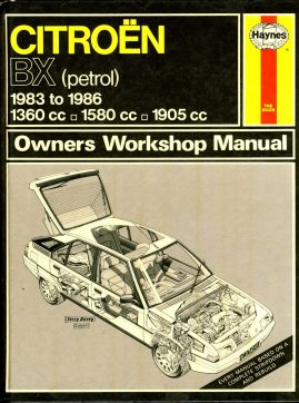 HAYNES 908 CITROEN BX (petrol) Owners Workshop Manual 1986 HB Book ref101 This is a pre-owned book in good condition for age and use. It has been read so it has some signs of handling and page corner turns.