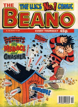 1998 March 7th BEANO vintage comic Good Gift Christmas Present Birthday Anniversary ref125 A vintage comic in good read condition. Please see larger photo and full description for details.