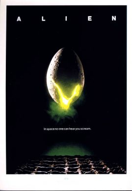 SFX LARGE PRINT of Film Poster for ALIEN measures 21x 29cm approx refS2-034 Ideal for framing. This glossy photo print produced by SFX is in Good Condition.  Please read the full description and see photo.
