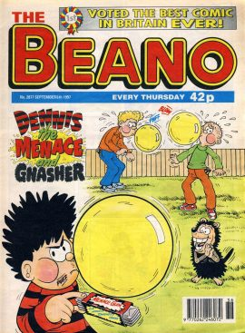 1997 September 6th BEANO vintage comic Good Gift Christmas Present Birthday Anniversary ref126 A vintage comic in good read condition. Please see larger photo and full description for details.