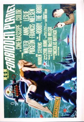 SFX LARGE PRINT of Film Poster FORBIDDEN PLANET measures 21x 29cm approx refS2-035 Ideal for framing. This glossy photo print produced by SFX is in Good Condition.  Please read the full description and see photo.