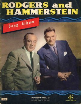 VINTAGE Rodgers & Hammersteing Song Album Music & Words Williamson Music no.6120 22 pages ref01-011 22cm x 27cm approx. This is a used item in good condition for age. Please read full description.