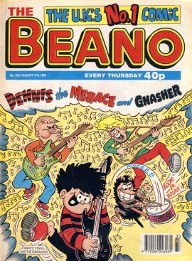 1996 August 17th BEANO vintage comic Good Birthday Present Gift Christmas Anniversary ref151 A vintage comic in good read condition. Please see larger photo and full description for details.
