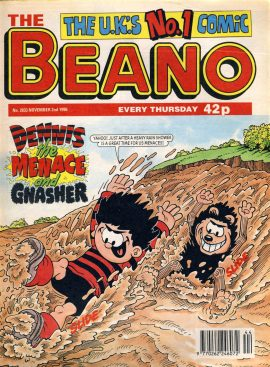 1996 November 2nd BEANO vintage comic Good Birthday Present Gift Christmas Anniversary ref164 A vintage comic in good read condition. Please see larger photo and full description for details.