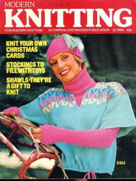 Modern Knitting for Machine Knitters 1976 64 page vintage Knitmaster magazine refS1-064 This vintage publication is in Good Condition for age. Please read the full description and see photo.