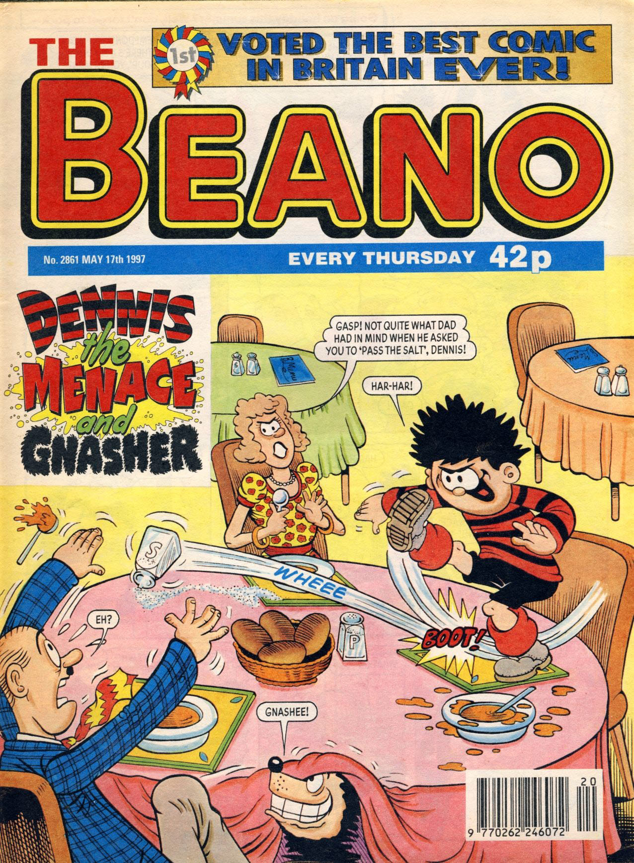 1997 May 17th BEANO vintage comic Good Birthday Present Gift Christmas Anniversary ref187 A vintage comic in good read condition. Please see larger photo and full description for details.