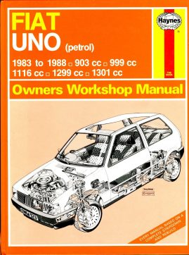 HAYNES 923 FIAT UNO (petrol) Owners Workshop Manual 1988 HB Book ref102 This is a pre-owned book in good condition for age and use. It has been read so it has some signs of handling and page corner turns.