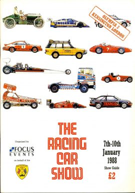 1988 The Racing Car Show Kensington London OLYMPIA 2 Show Guide ref01-024 82 pages - measure approx 21cm x 30cm This is a used item in very good condition. Please read full description.