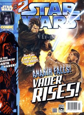 STAR WARS COMIC #2 June 2005 Anakin Falls Vader Rises! ref01-031 This is a used item in good condition with some marks on the cover. Please read full description.