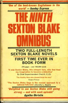 The Ninth Sexton Blake Omnibus 1972 vintage HB book with dustcover ref99 The Hangman & The Muckrakers. A pre-owned vintage book in good condition for age. Paper dustcover has marks