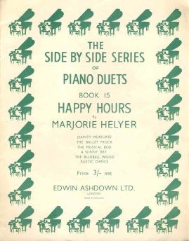 The Side By Side Series of PIANO DUETS Happy Hours vintage sheet music book 15 refS1-3039 Good Condition for age . Please see large photo and read full description.