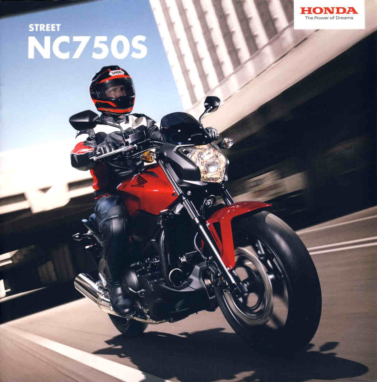 HONDA Street NC7505 12 page brochure 2014 with fold-out specs ref63 S2-box4  Measure approx 21cm x 21cm. This is a pre-owned product in very good condition - please see full description and photo.