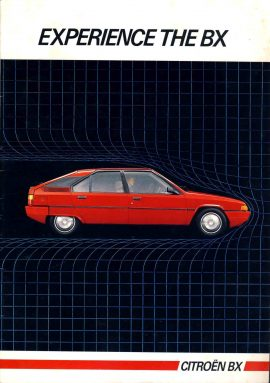 1984 CITROEN BX car brochure 28 pages 21cm x 29cm BRAMPTON GARAGE Huntingdon deal stamp on back ref63 S2-box4  This is a pre-owned product in fairly good condition for age - please see full description and photo.