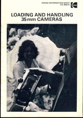 1981 Kodak Information Sheet Loading & Handline 35mm Cameras leaflet 8 pages  14.5 x 21cm approx refS2-012 This vintage publication is in Good Condition for age.  Please read the full description and see photo.
