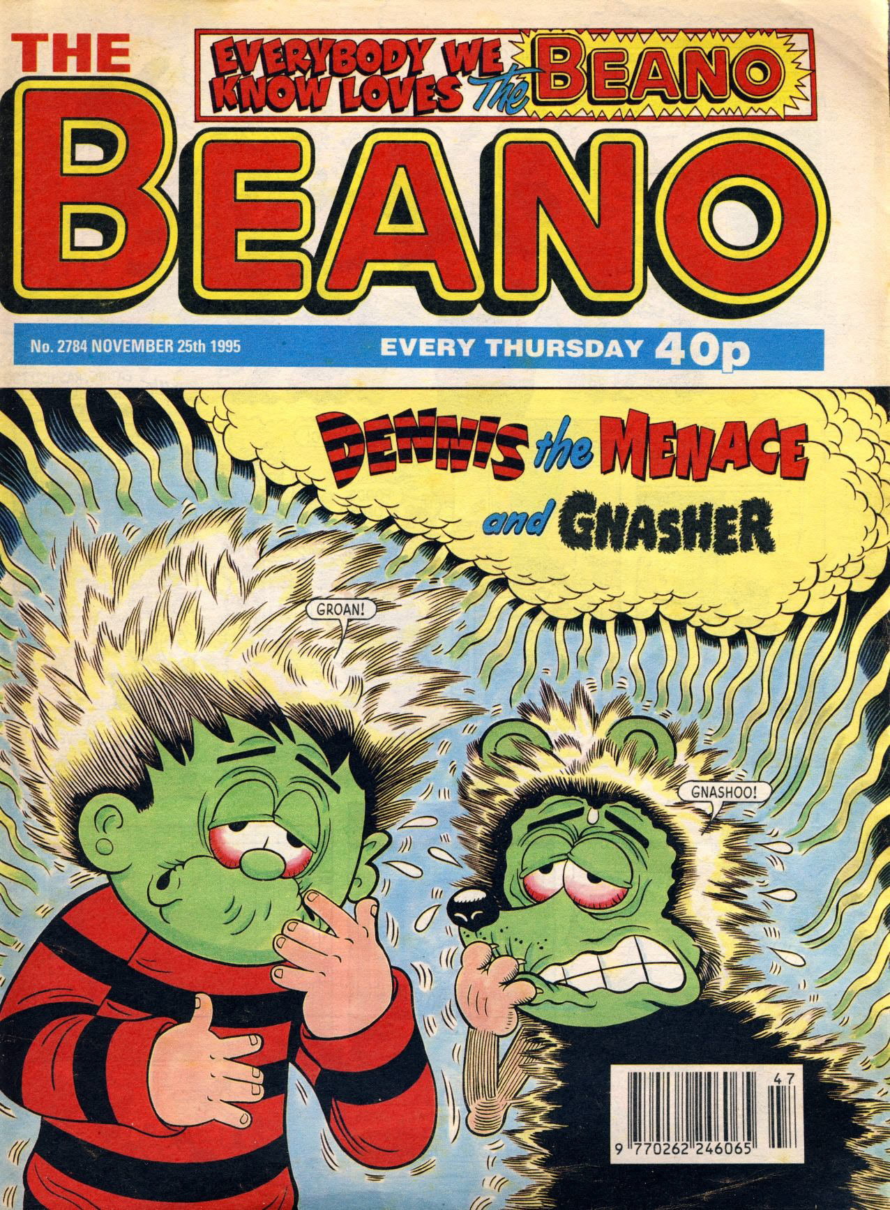 1995 November 25th BEANO vintage comic Good Gift Christmas Present Birthday Anniversary ref104a A vintage comic in good read condition. Please see larger photo and full description for details.
