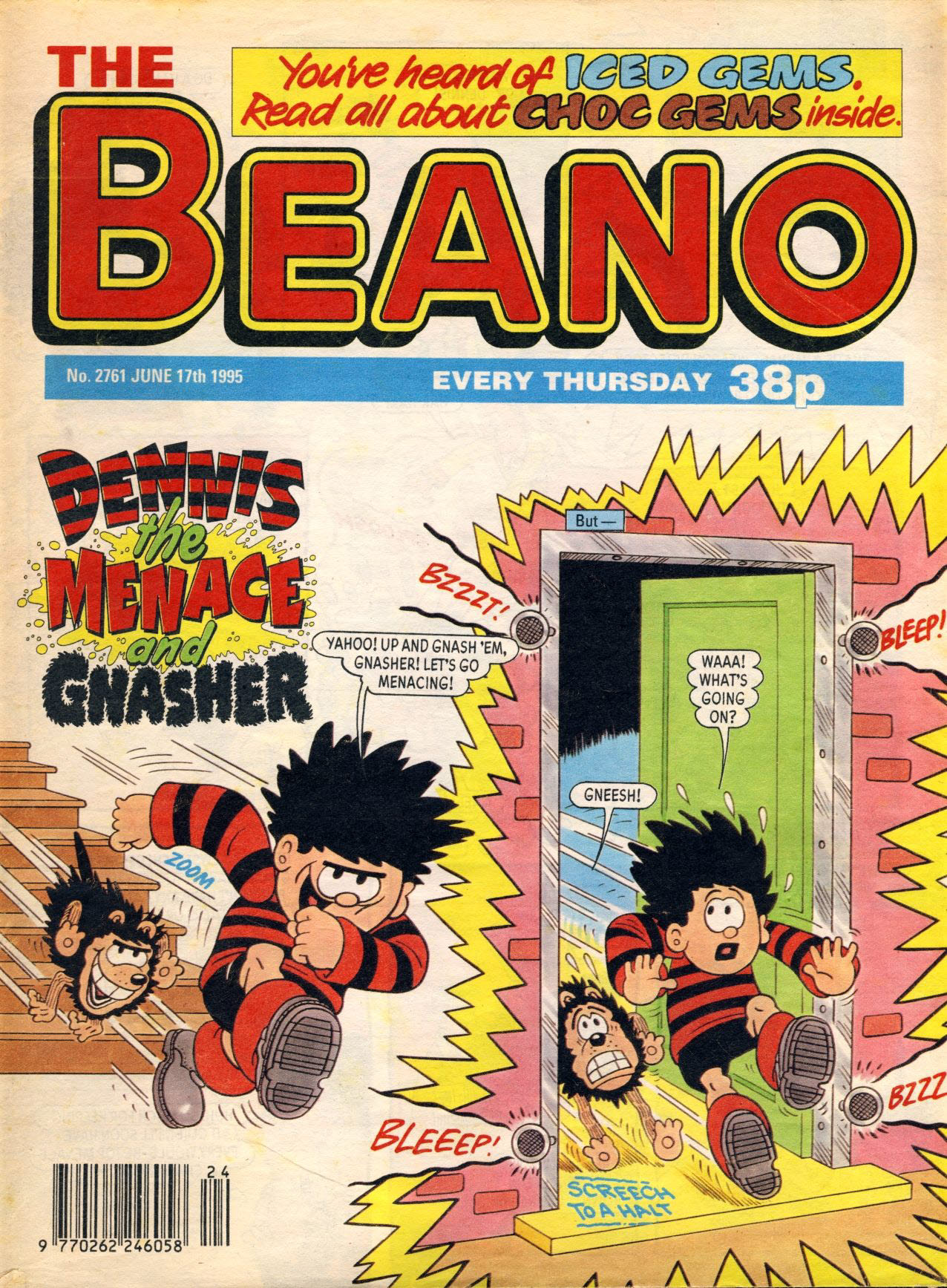 1995 June 17th BEANO vintage comic Good Gift Christmas Present Birthday Anniversary ref107 A vintage comic in good read condition. Please see larger photo and full description for details.