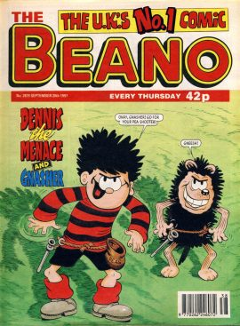 1997 September 20th BEANO vintage comic Good Gift Christmas Present Birthday Anniversary ref111 A vintage comic in good read condition. Please see larger photo and full description for details.
