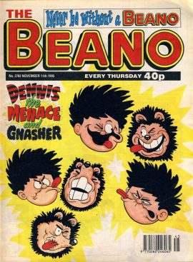 1995 November 11th BEANO vintage comic Good Gift Christmas Present Birthday Anniversary ref121 A vintage comic in good read condition. Please see larger photo and full description for details.
