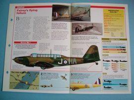 British Aircraft of World War II Card 26 Fairey BATTLE Battle of France veteran