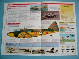 British Aircraft of World War II Card 27 Airspeed OXFORD Wooden structure