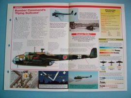 British Aircraft of World War II Card 28 Handley Page HAMPDEN and Flying Suitcase 217