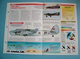 British Aircraft of World War II Card 30 Bristol BLENHEIM Mk IV twin engined