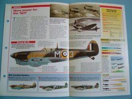 British Aircraft of World War II Card 49 Supermarine SPITFIRE Mks V-IX Cannon