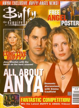 Buffy The Vampire Slayer magazine August 2001 no.24 ANYA Good Used Condition. This magazine has been read and may have some light page turn creases. refB1-31