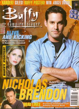 Buffy The Vampire Slayer magazine Dec 2001 no.28 Good Used Condition. This magazine has been read and has some light page turn creases. refB1-27