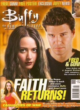 Buffy The Vampire Slayer magazine Dec 2002 no.41 FAITH Good Used Condition. This magazine has been read and may have some light page turn creases. refB1-24