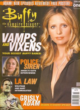 Buffy The Vampire Slayer magazine GRISLY ADAM April 2001 no.19 Very Good Used Condition. This magazine has been read and has some light page turn creases. refB1-12