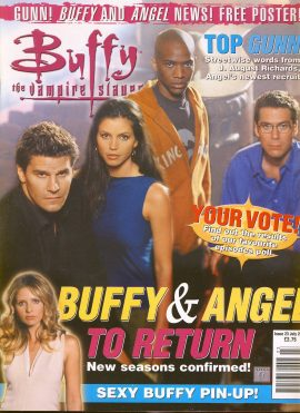 Buffy The Vampire Slayer magazine July 2001 no.23 Good Used Condition. This magazine has been read and may have some light page turn creases. refB22