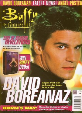 Buffy The Vampire Slayer magazine June 2002 no.34 DAVID BOREANAZ Good Used Condition. This magazine has been read and may have some light page turn creases. refB1-19