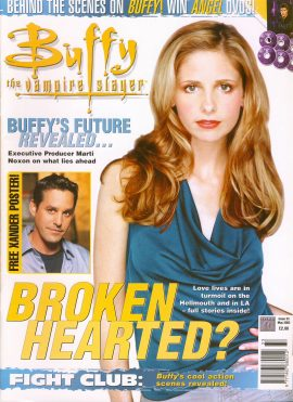 Buffy The Vampire Slayer magazine May 2002 no.33 XANDER Good Used Condition. This magazine has been read and may have some light page turn creases. refB1-18
