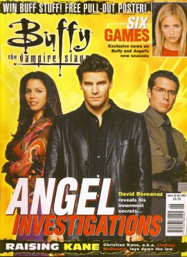 Buffy The Vampire Slayer magazine Oct 2001 no.26 Good Used Condition. This magazine has been read and has some light page turn creases refB1-29