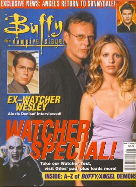 Buffy The Vampire Slayer magazine WATCHER SPECIAL Spring 2001 no.21 Very Good Used Condition. This magazine has been read and has some light page turn creases. refB1-10a