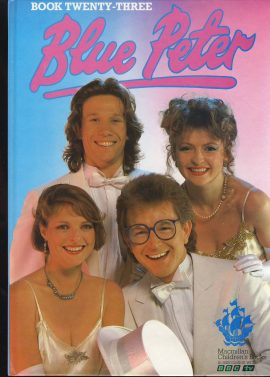 1987 Blue Peter Annual Book 23 BBC TV Caron Janet Mark and Peter on cover. Very good condition.
