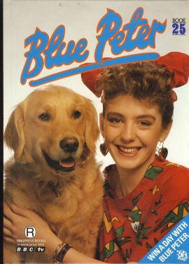 1989 Blue Peter Annual Book 25 BBC TV in very good condition. Some marks on cover.  Yvette Fielding on cover