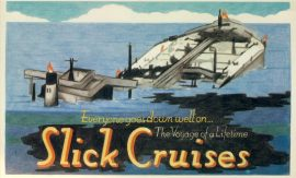 1998 oil Slick Cruises cleaner oceans Dodo's Doomsday Vintage Postcard refP1 Please see BOTH large photos and description for details.