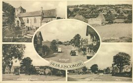 1953 SEDLESCOMBE postmark Battle Sussex Vintage Postcard LONG LIVE THE QUEEN refP1 Please see BOTH large photos and description for details.