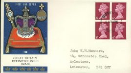 1967-68 Great Britain Definitive Issue 6d stamp cover FDI Leicester FDC refd488  In very good condition. Sealed. Please see larger photo and full description for details.