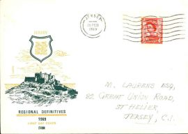 26 February 1969 Jersey Regional Definitives Firs Day Cover stamp cover refE101097 Cover in Good condition. Sealed - no insert. Address label mark. Please see larger photo and full description for details.