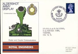 Lt.Col. D.A.W. Gardiner HQ Western Comm CHESTER 1970 Army commemorative cover ALDERSHOT ARMY DISPLAY Royal Engineers refD210 In very good condition. With Insert Card. Please see larger photo and full description for details.