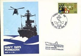 Navy Days PLYMOUTH mail carried Submarine HMS ACHERON Lt.Cdr.H.Peltor R.N. Commemorative stamp cover BFPO 1131 refD210 In very good condition. Unsealed no insert card. Please see larger photo and full description for details.