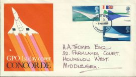 1979 GPO 1st Day Cover CONCORDE stamps cover fdi London refd0010 In very good condition for age. Please see larger photo and full description for details. Unsealed with insert.