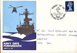 The Navy's Here! NAVY DAYS PORTSMOUTH 1970 commemorative cover bfpo 1132 refD20 In good condition for age with marks to the front and back. Unsealed no insert card. Please see larger photo and full description for details.