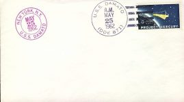 1962 USS Damato New York Project Mercury USA stamp cover refd106 In very good condition for age . Please see larger photo and full description for details. Not sealed no insert.