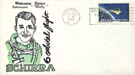 1962 ORADELL N.J. Project Mercury stamp cover SCHIRRA orbital flight welcom home refd107 In very good condition for age . Please see larger photo and full description for details. Not sealed no insert.